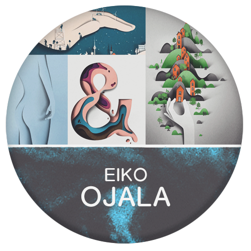 Eiko Ojala digital paper cut out master of intricate details to make it look hand made