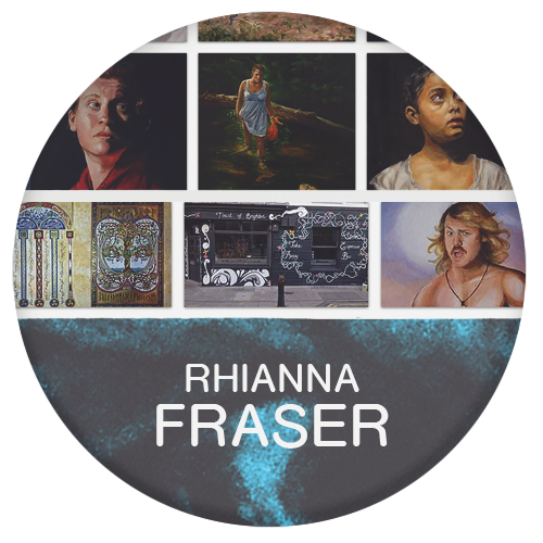 Rhiannon Fraser painter and graphic designer for film and television