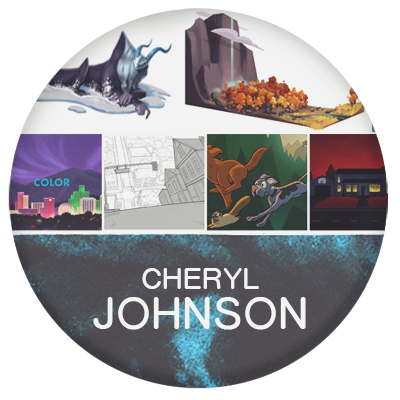 Cheryl Johnson character designer and background design for animation Rick and Morty