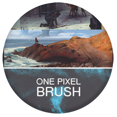 One Pixel Brush learning and education for concept artists and designers
