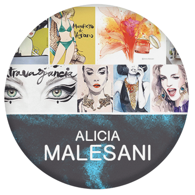Alicia Malesani fashion illustrator