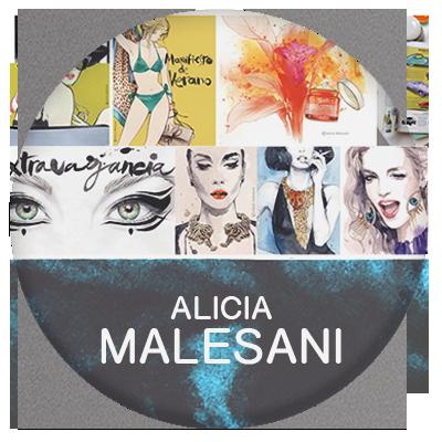 Alicia Malesani fashion illustrator