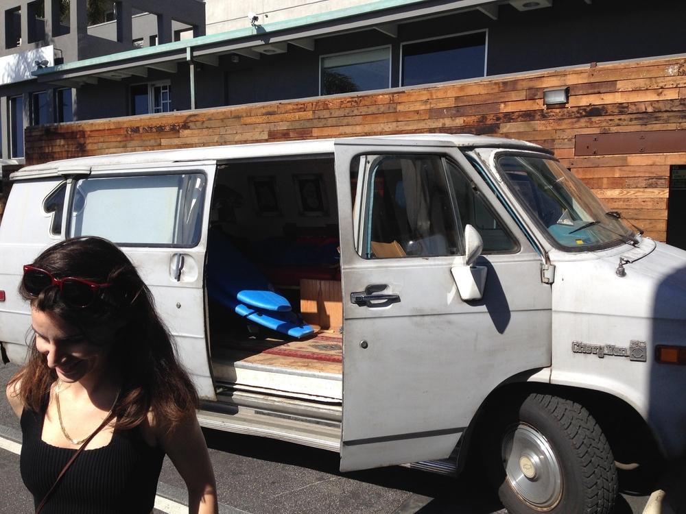 jenny at the van.jpg