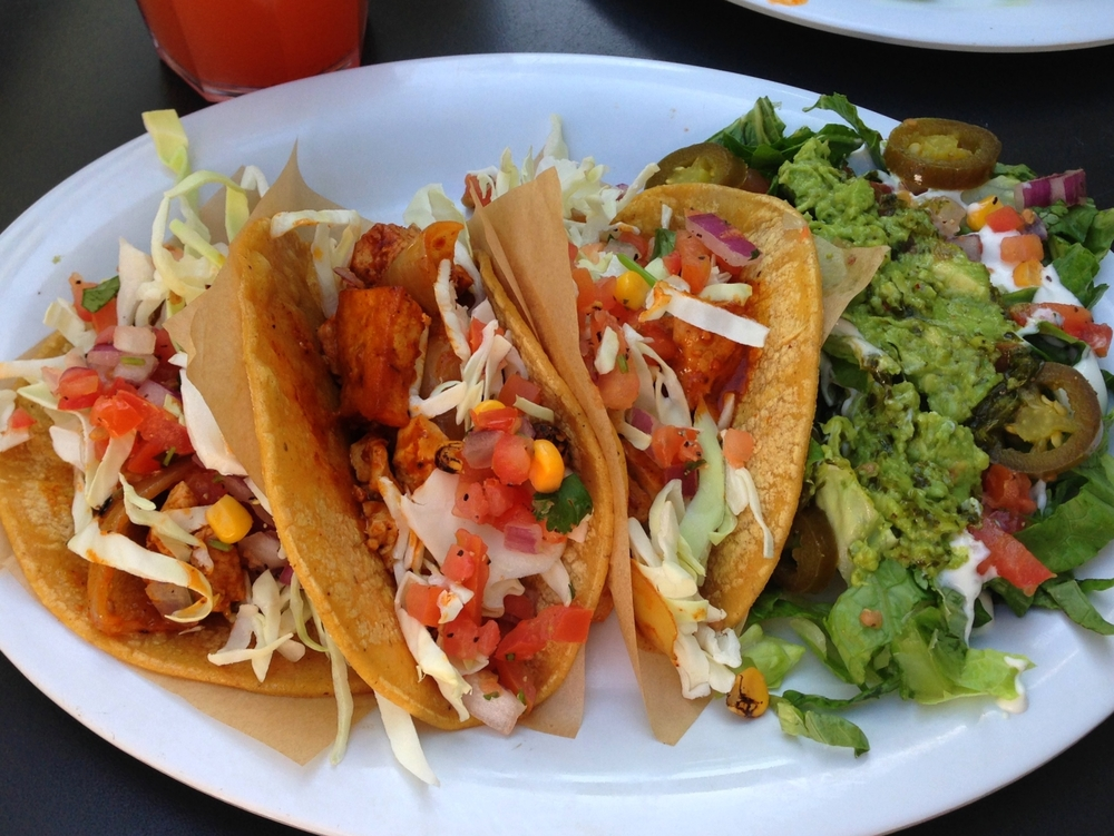 Chicken tacos from Veggie Grill