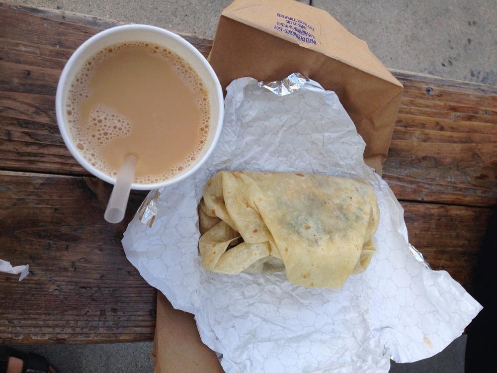 Veggie Breakfast burrito @Hugos