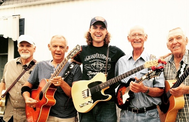 (Above) Gramps and I playing tunes with the young fellas!