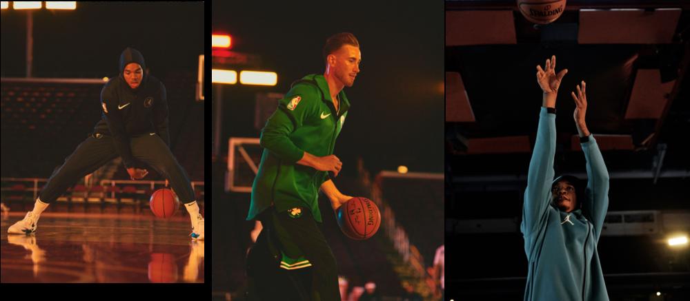 From left: Karl-Anthony Towns of the Minnesota Timberwolves, Gordon Hayward of the Boston Celtics, Malik Monk of the Charlotte Hornets