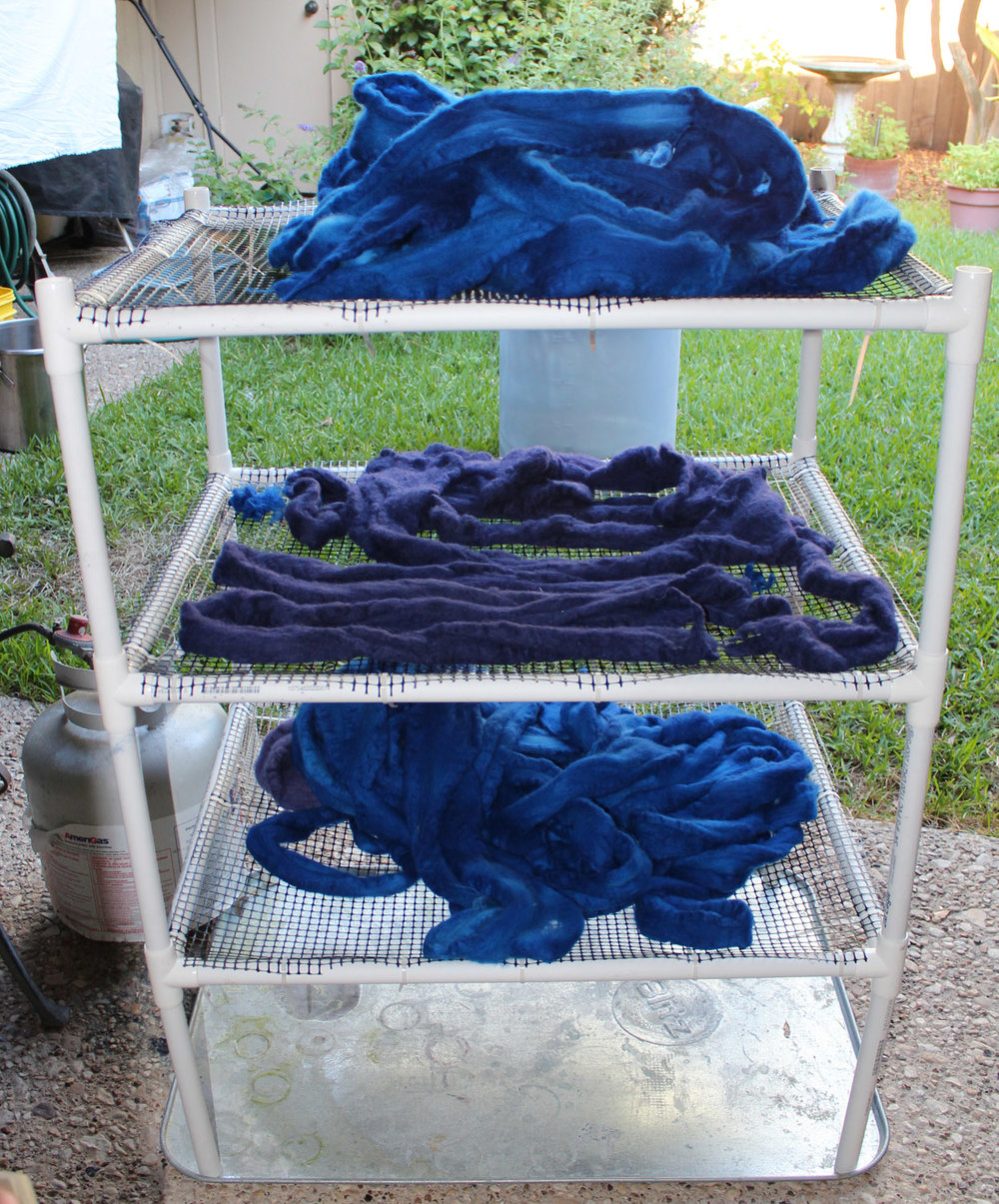 Three levels of wet wool.
