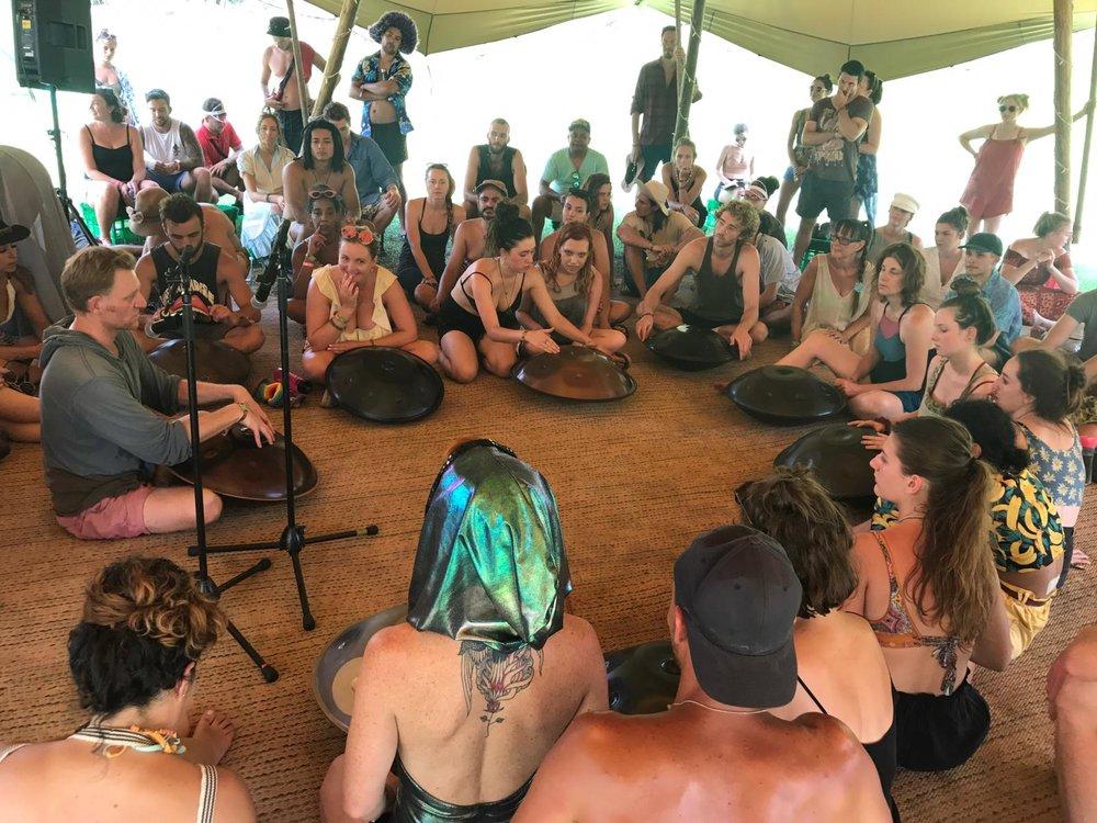 Handpan fundamentals workshop, Shambala Fields, Lost Paradise Festival 2018