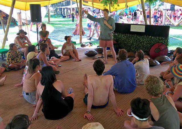 Handpan fundamentals workshop at the Lost Paradise festival #handpan #workshop #lostparadise #shambalafields