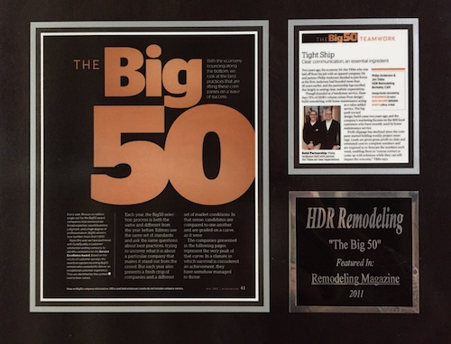 2011 -   Remodeling Magazine , Big 50