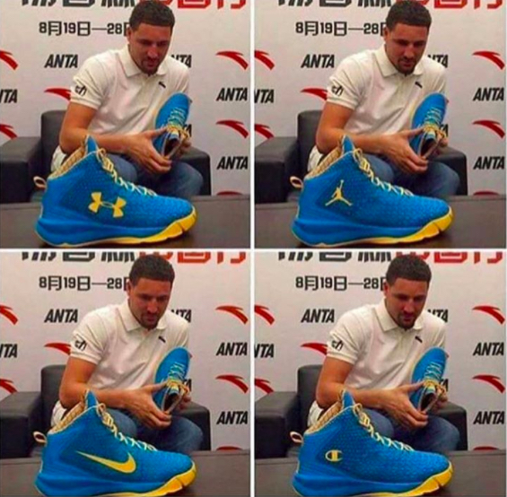 NBA player Lou Williams makes an astute observation on Klay Thompson's Anta brand shoes. The same shoe - but different branding can change the appearance / status / and appeal of the shoe. #powerofbranding