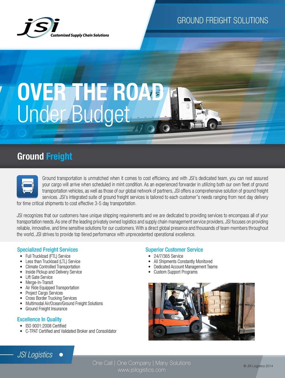 Ground Freight Services Flyer