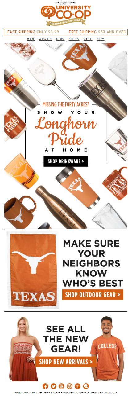 Longhorn Drinkware Email