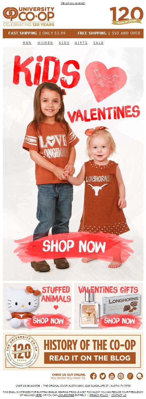 Kids' Valentines Email