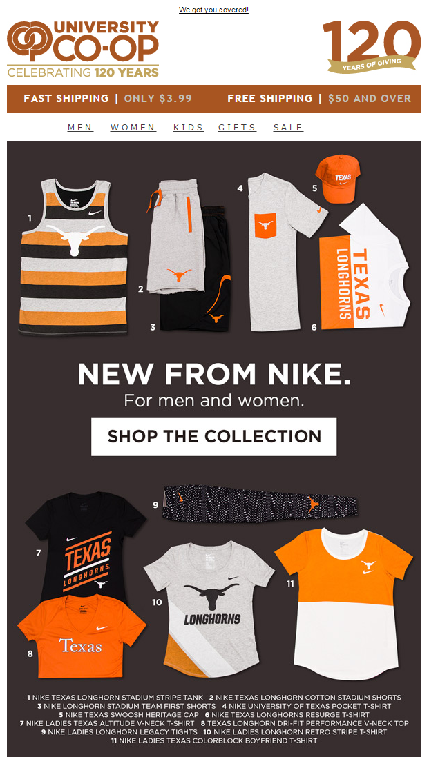 New Nike Email
