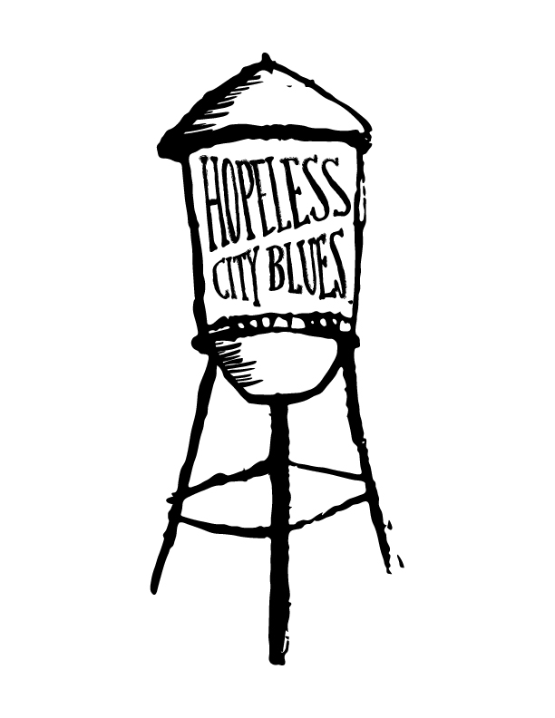 Logo for Houston, Texas band Hopeless City Blues  2016