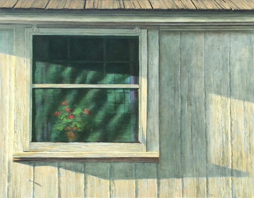 Window with Geraniums,22 X 28