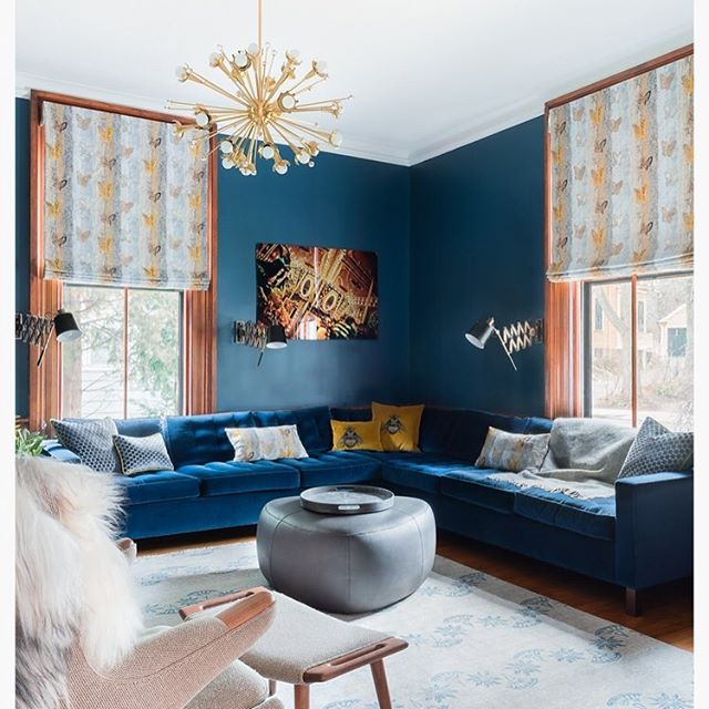 Bold and beautiful living room @ceciliainteriors