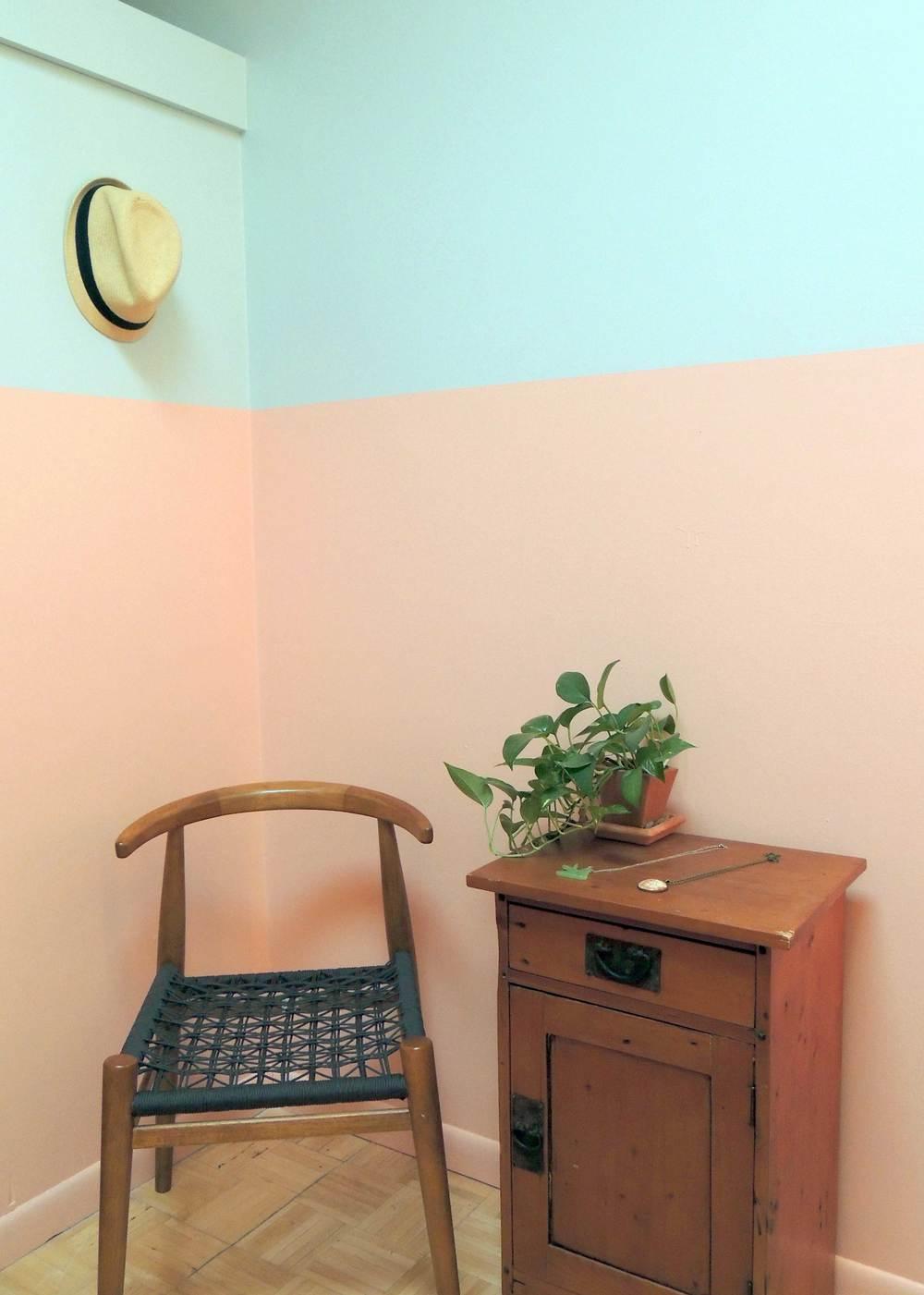 pantone color blocking brooklyn apartment painting