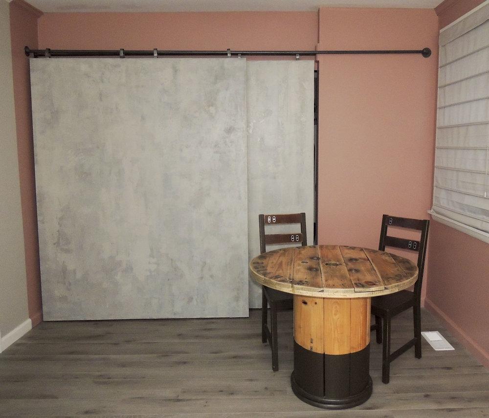 faux concrete doors. nashville.