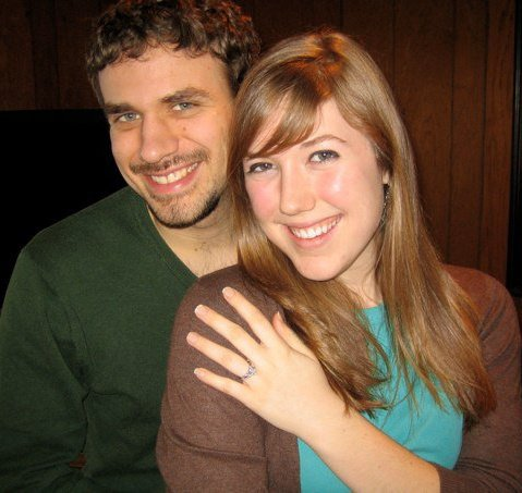 The day after we got engaged 2010.