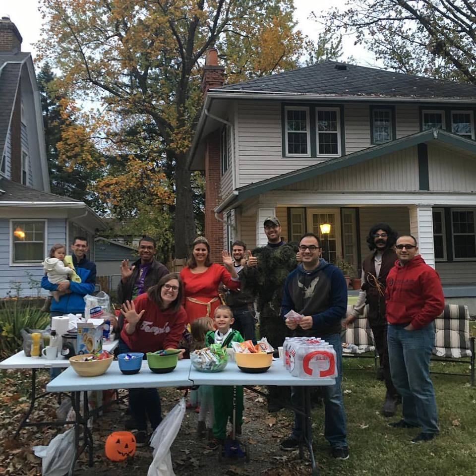 Triangle House Church serving our neighbors on Halloween!
