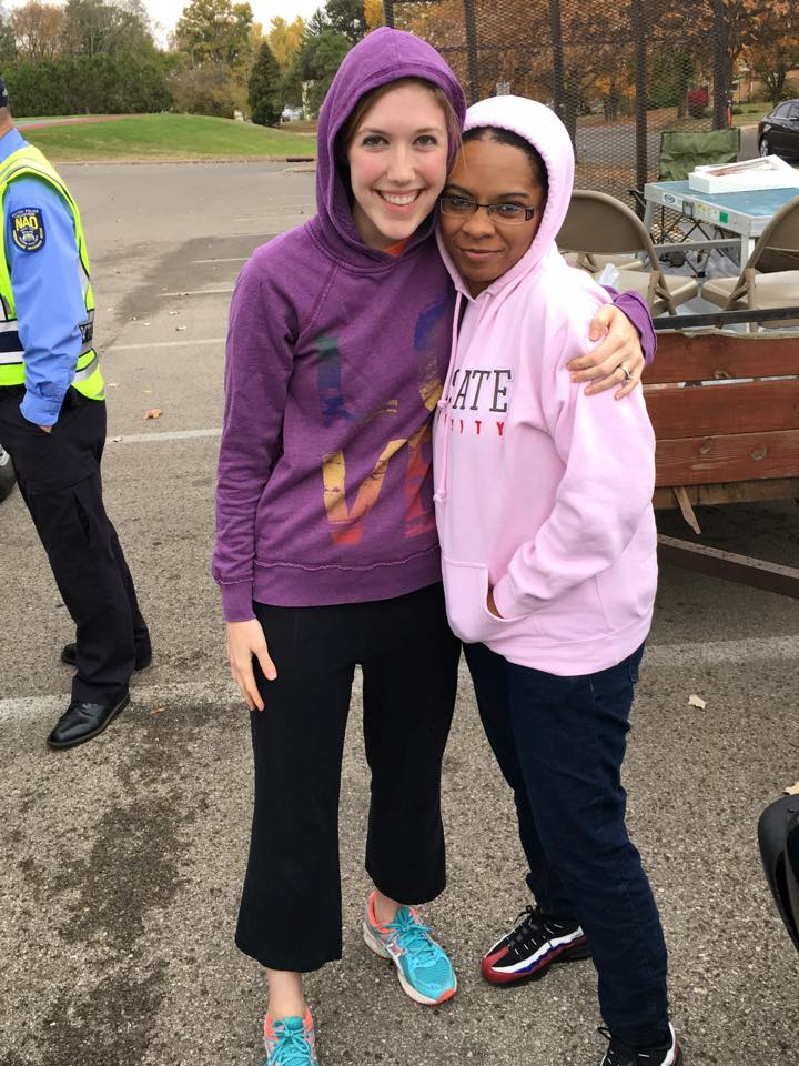 Me and my beautiful sister, Porsche at the graffiti clean up.
