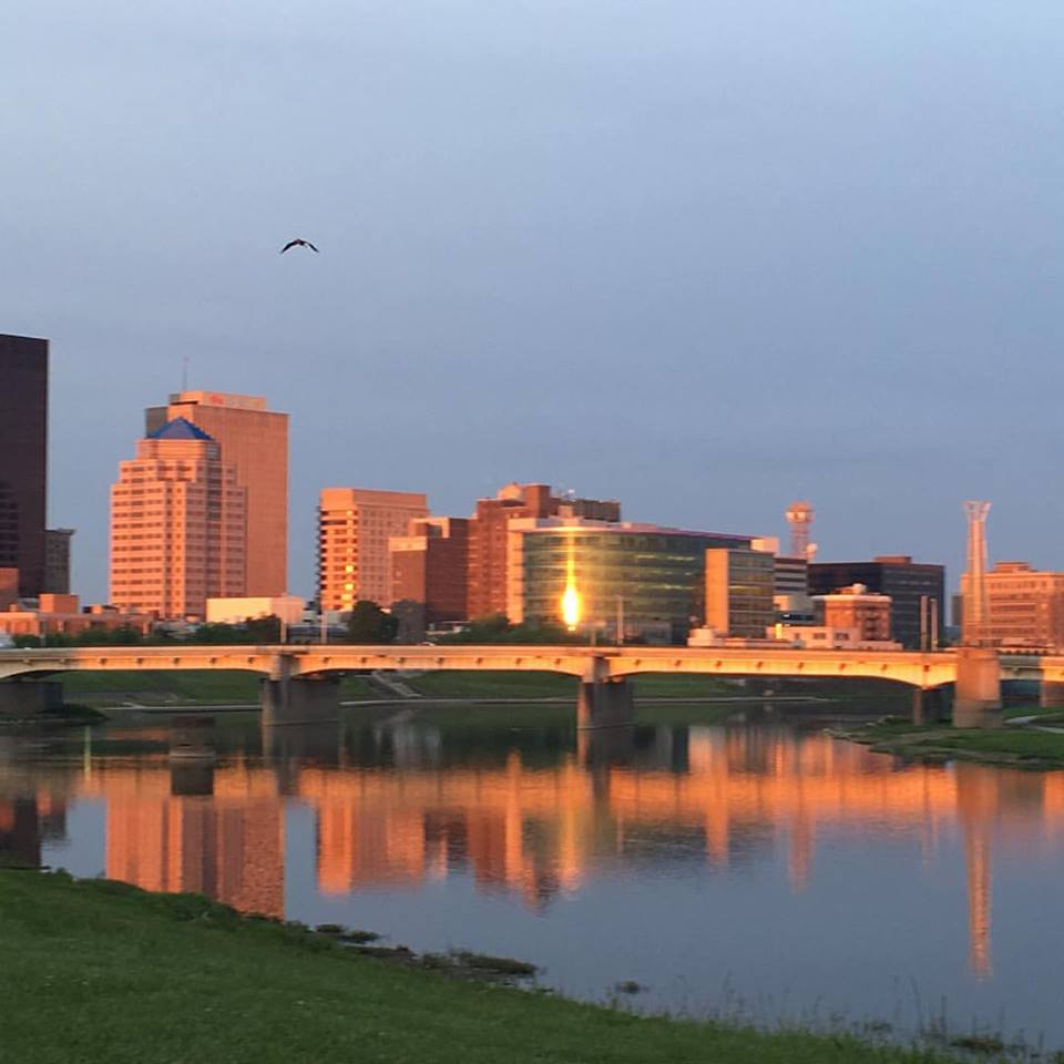 A shot of Dayton, taken yesterday at 6:30 AM while on my favorite walk from Island Park to Riverscape with my fellow Daytonian gal pals.