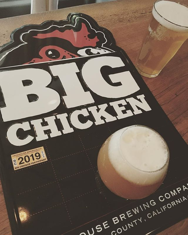It's here!!! BIG CHICKEN on tap from the amazing @henhousebrewing masters. Come get this. #henhouse #iipa #bigchicken #beerweek #petaluma #santarosa #123bolinas #sfbeerweek