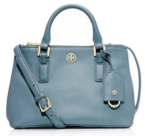 Tory Burch Robinson Micro Double-Zip Tote on sale for $299, originally $435