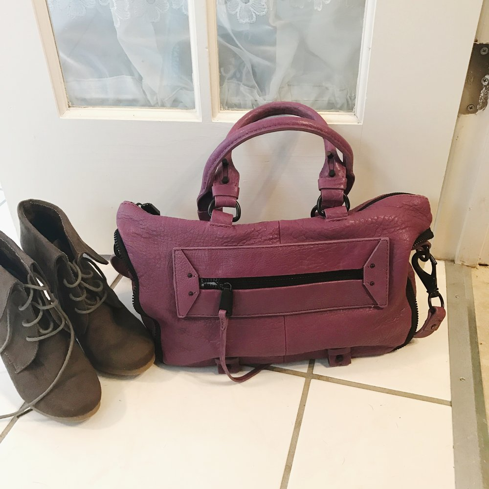 Bag and shoes are both items I purchased off Poshmark