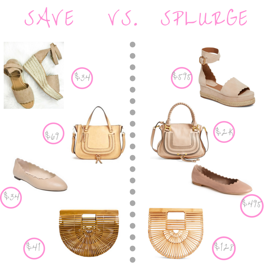 save vs. splurge spring accessories edition