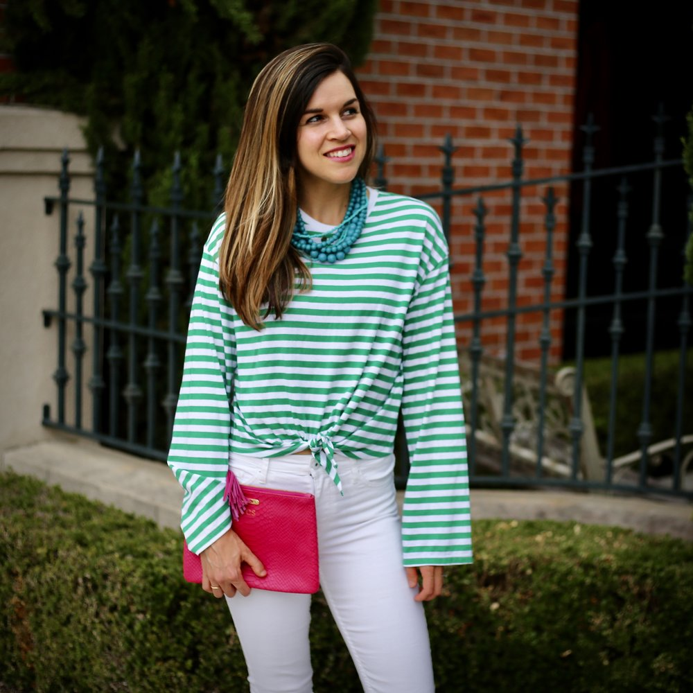 green stripes