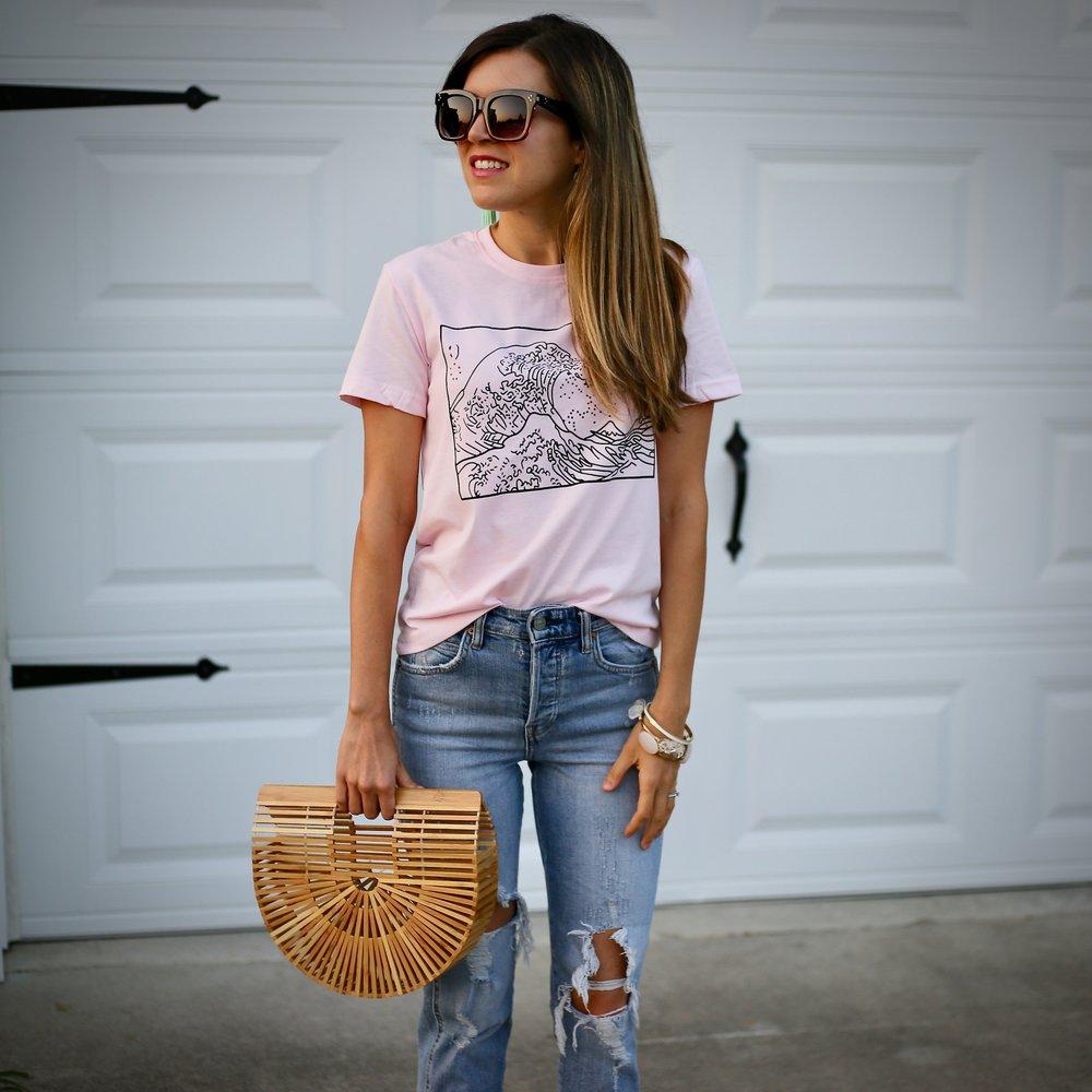wave tshirt
