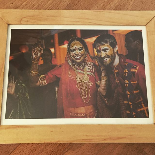 Happy 1yr+1w anniversary to @tweikert1 & @rupa08! I was ecstatic to be able to celebrate with you all last week in Dhaka. Throwback to this maple picture frame I made for a wedding photo of theirs 🇧🇩