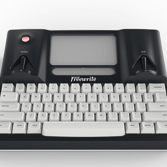Freewrite by Astrohaus. The creation that pays the bills #typewriter