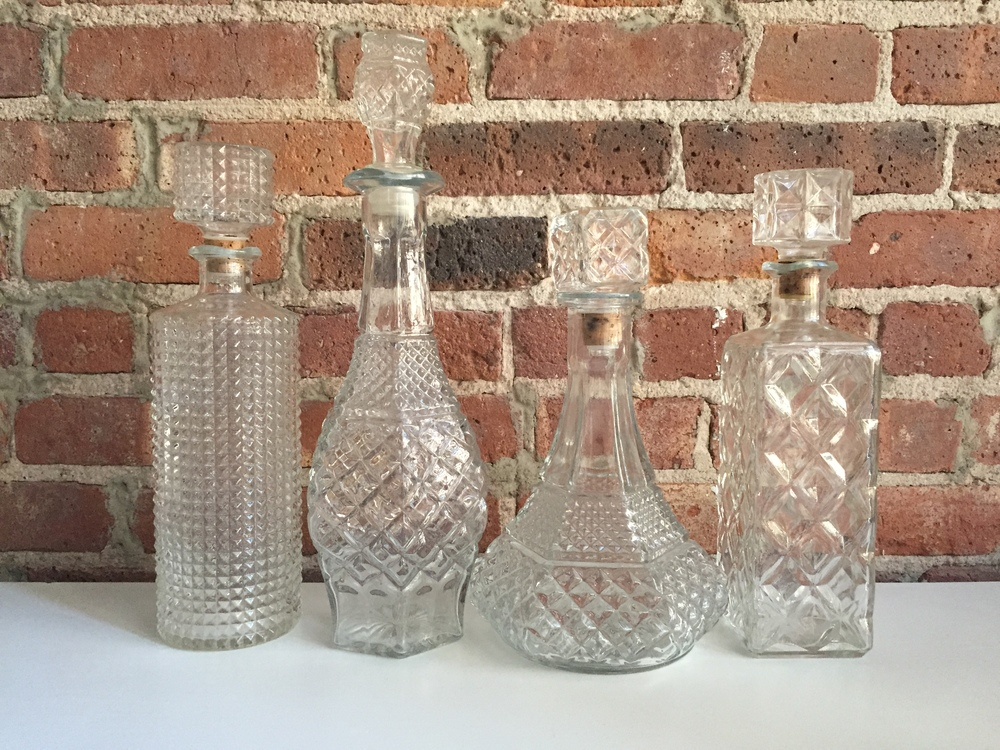 Vintage Glass Decanters  | Qty: 30