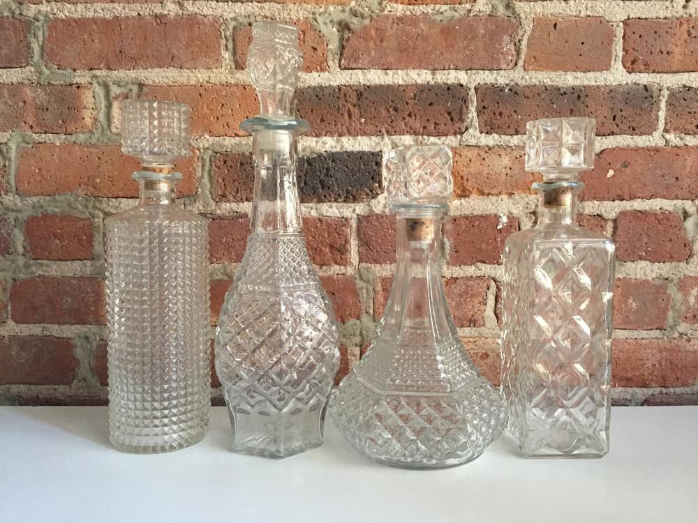 Vintage Glass Decanters  | Qty: 30
