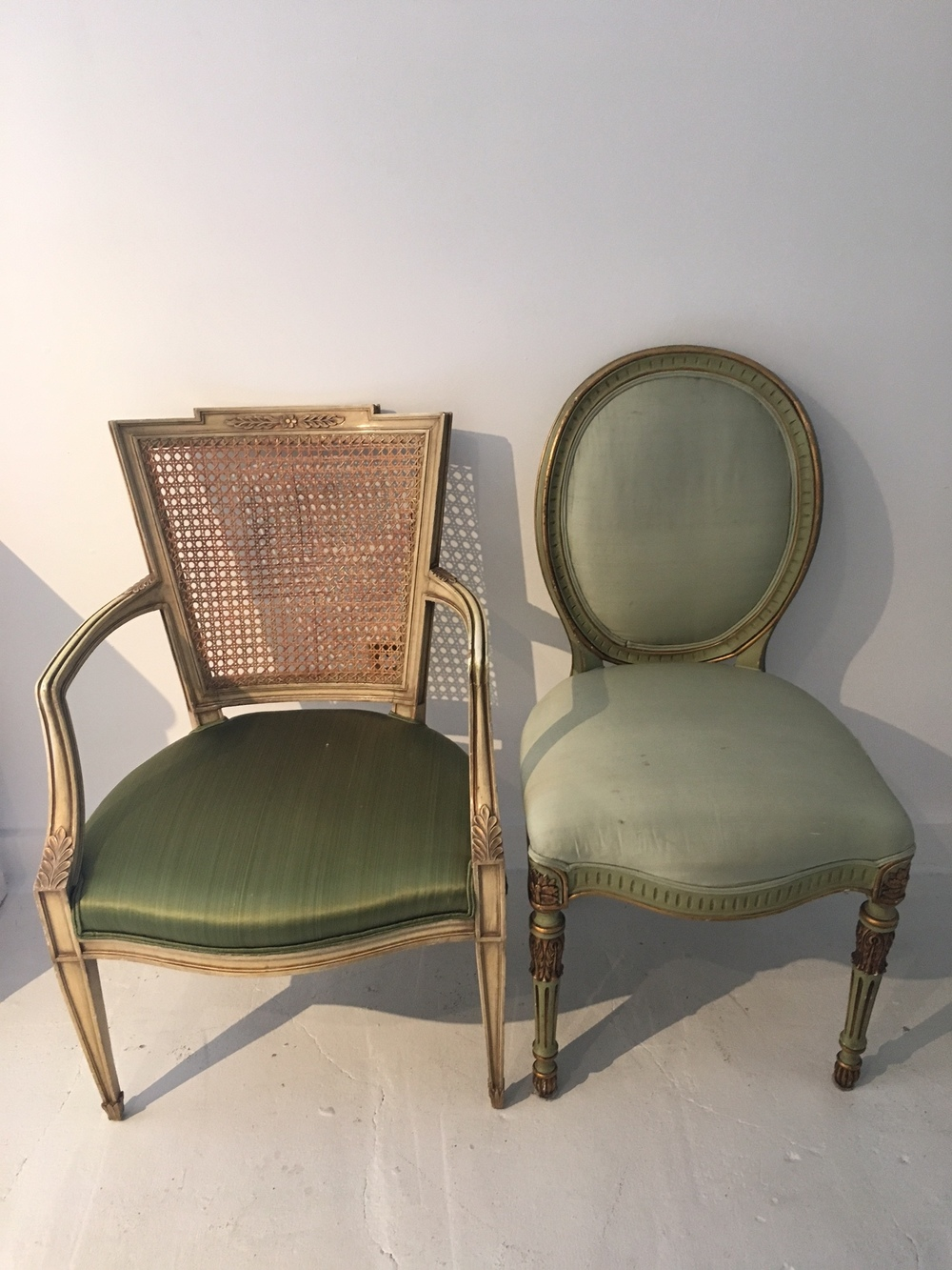 Green Vintage Chairs  | Qty: 2