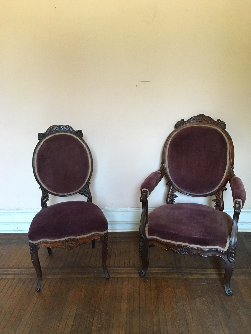 Purple Velvet Parlor Chairs | Qty: 1