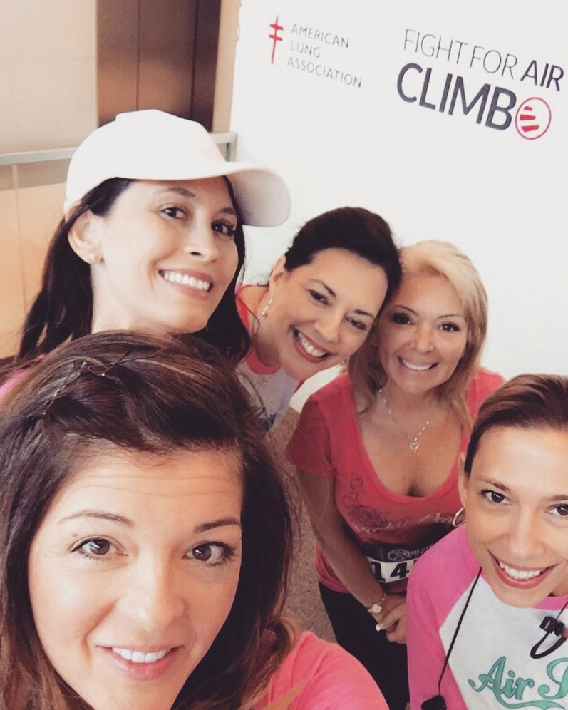 My girls! We all climbed in honor of my Mom!