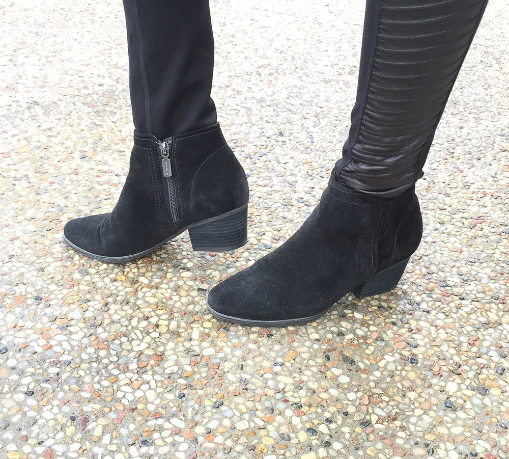 Hard to believe these suede booties are actually waterproof! Shop for these Blondo waterproof booties by clicking on the picture above.