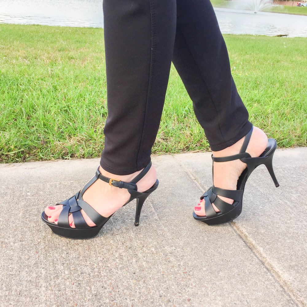 The only heels I can wear over 3 inches! The platform makes them feel like only 2!
