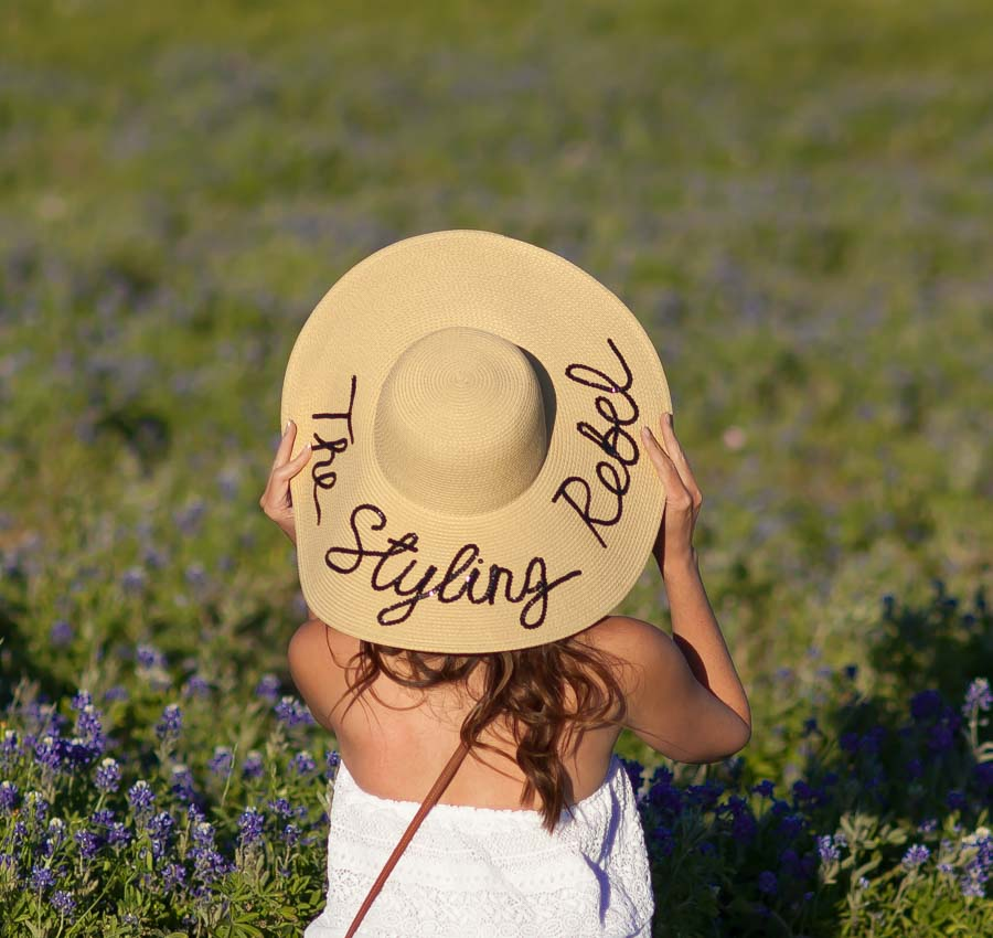 By Born and Made company customizes these cute sun hats!