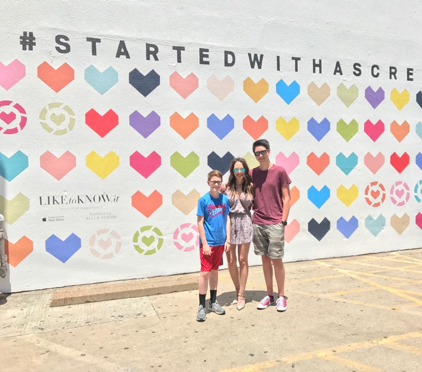 Of course since we were in Dallas, we had to stop by the LIKEtoKNOW.it wall!