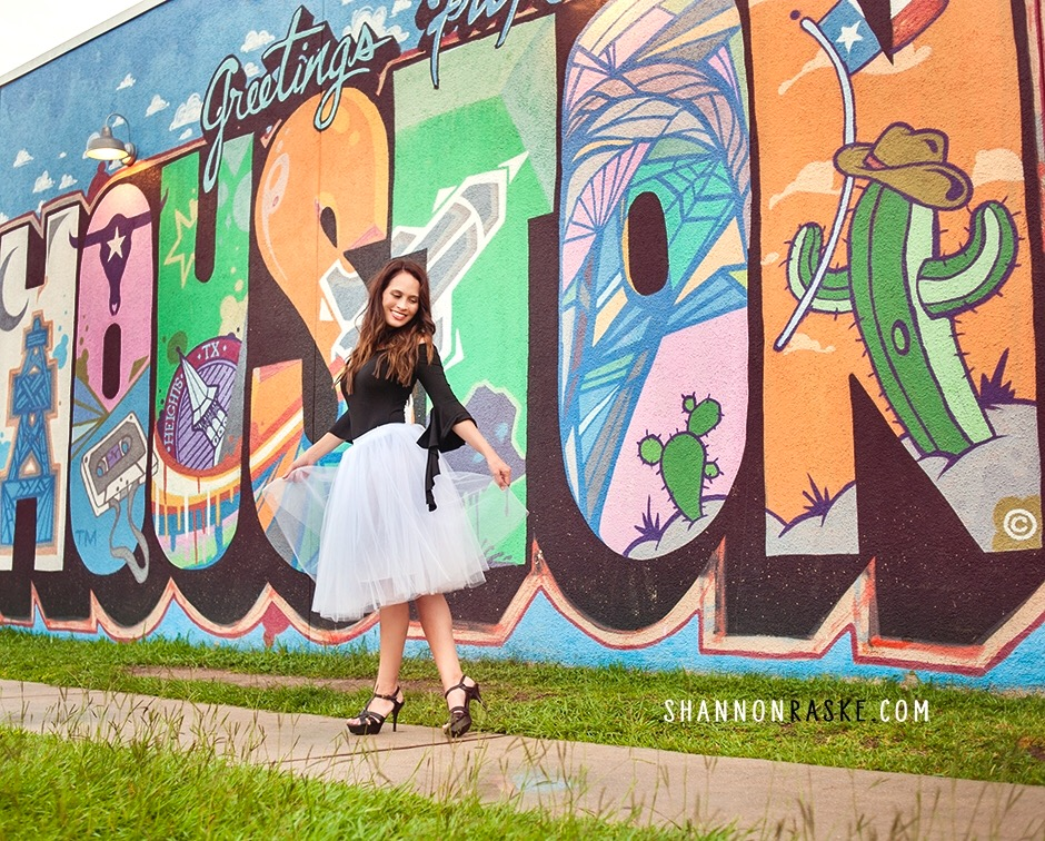 Greetings from my hometown!  My top   here   / My tulle skirt   here   / My shoes   here    Photo by   Shannon Raske