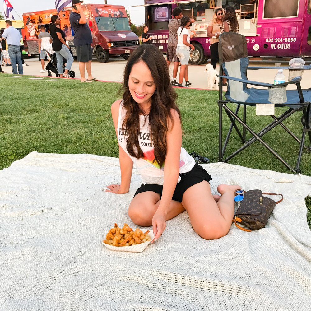 "I have yet to find a ""healthy"" food truck so fried shrimp and fries it is!"