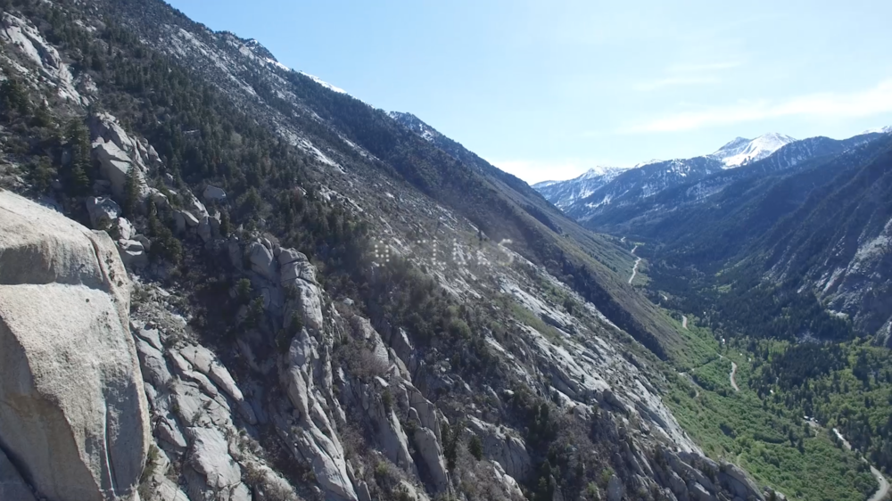 Little Cottonwood Canyon from a DJI Phantom 3 Pro