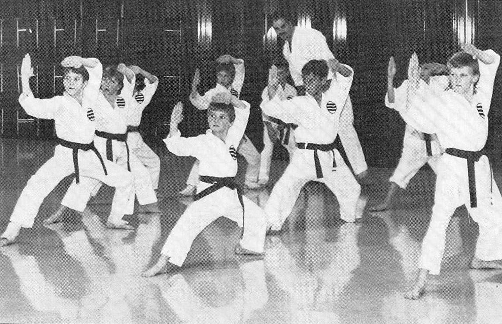 Sensei DiPasquale teaching some of our young athletes over twenty years ago at one of our first facilities